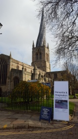 Dementia and Imagination exhibition in conjunction with Chesterfield's famous Crooked Spire