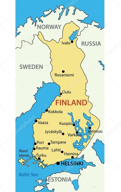 Finland simples map