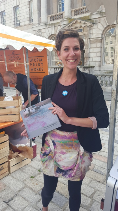 Utopia Fair at Somerset House, London July 2016. Connected Communities Arts & Humanities Research Council public engagement event