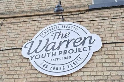 The Warren logo outside