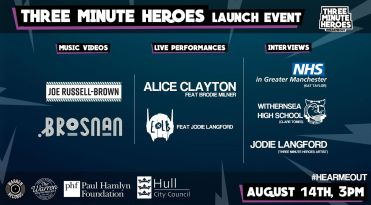 2020 three minute heroes launch event poster
